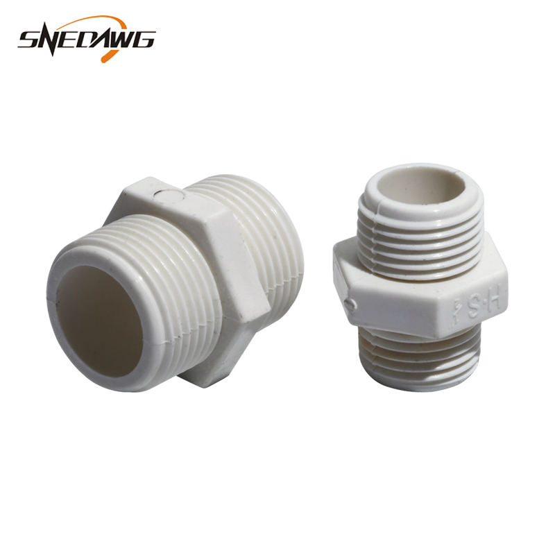 US $1 62 35% OFF|2pcs PVC U Water Pipe Fitting Male Thread Connectors  20/25/32mm Pipe Joint UPVC Plastic Water Supply Pipe Joint Fitting-in Pipe