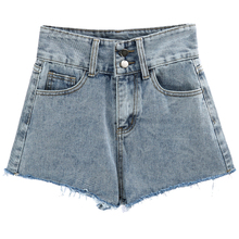 Summer Women High Waist Denim Shorts Vintage Street Basic Sexy Mini Jeans