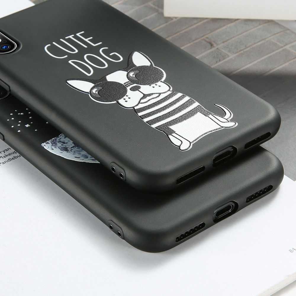 BEIJOS Caso Soft Phone para iPhone X XR XS MAX 7 8 mais Casos Bonito Do Gato Do Cão Em Relevo para o iphone X XS MAX XR 6 6 S 7 8 Mais Fundas