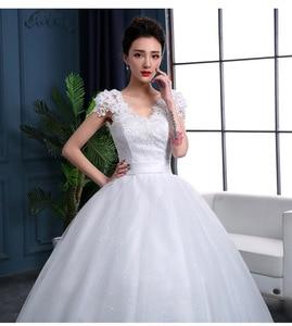 Image 5 - Pas cher 2020 nouvelle mode luxe haut De gamme manches robes De mariée 2020 avec des perles De dentelle De mode robe De mariée Vestidos De Noiva