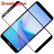 Full Cover Screen Protector For Huawei Honor 7A 7C Pro 7X Tempered Glass For Huawei Y6 Y5 Prime Y9 2018 P Smart P20 Lite Nova 3i(China)