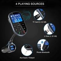bluetooth 4.2 FM Wireless Radio Transmitter Adapter Dual USB Car Charger with Handsfree Calling A2DP Aux bluetooth Car Kit