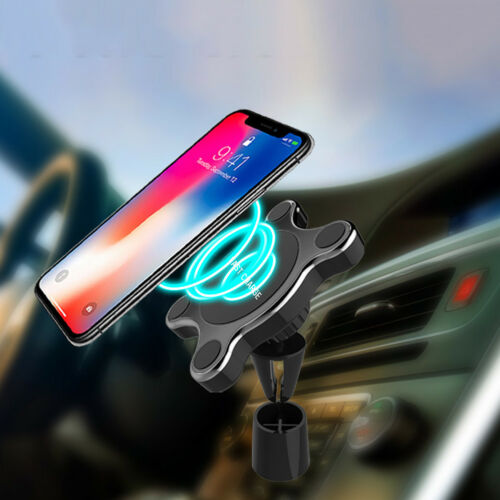 Wireless Car Charger Magnetic Phone Holder Qi Fast Charge Pad for Samsung iPhone Tablet Stands