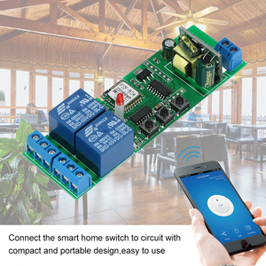 Image 5 - 2CH AC85 250V אלחוטי מתג טיימר טלפון APP שלט חכם Wifi מתג אוניברסלי אוטומציה מודול לבית חכם