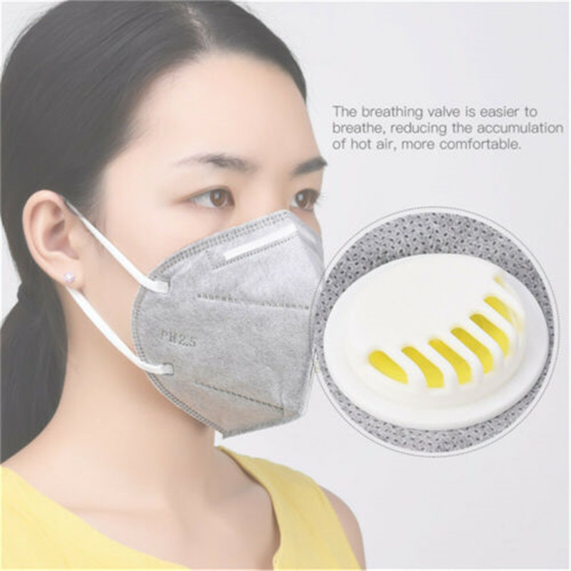5Pcs Lot Activated Carbon Anti-smog Dust-proof KN95 Respirator Protective Mask