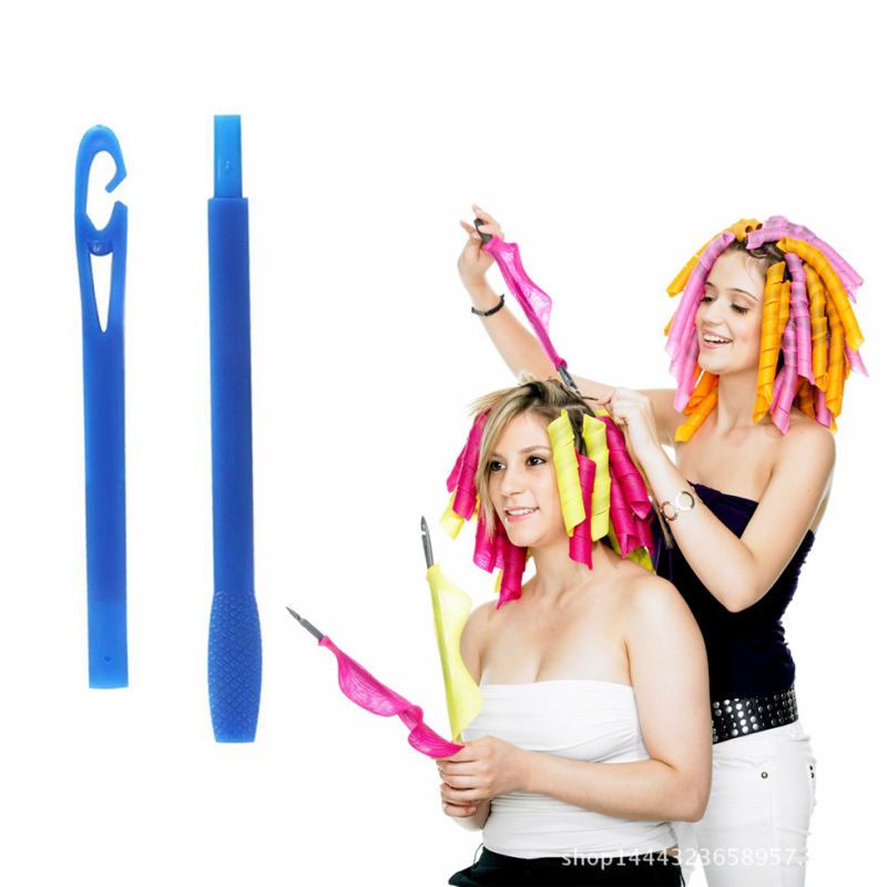3/2Pcs 22/45/55cm Plastic Long Diameter 2.5cm professional Hair Curling Spiral Curls Styling Tool Easy Usage Salon Beauty Supply