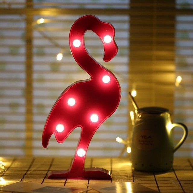 LED Night Light Unique Design Unicorn Flamingo Coconut Tree Pineapple Giraffe Bedroom Livingrong Decorative Table Lamp Gift Hot