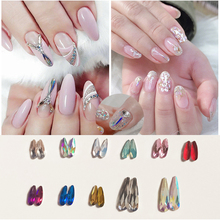 2019Fashion 3D Nail Art Long Water Drop Fancy Shaped Crystal Flat Back Rhinestones Decoration