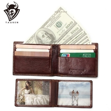 купить New RFID BLOCKING Genuine Leather Men's Wallets Male Bifold Purse Small Dollar Wallet Cowhide Bifold Purse Card Holders по цене 837.59 рублей