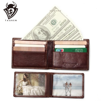 New RFID BLOCKING Genuine Leather Men's Wallets Male Bifold Purse Small Dollar Wallet Cowhide Bifold Purse Card Holders realer wallets for women genuine leather long purse female clutch with wristlet strap bifold credit card holders rfid blocking