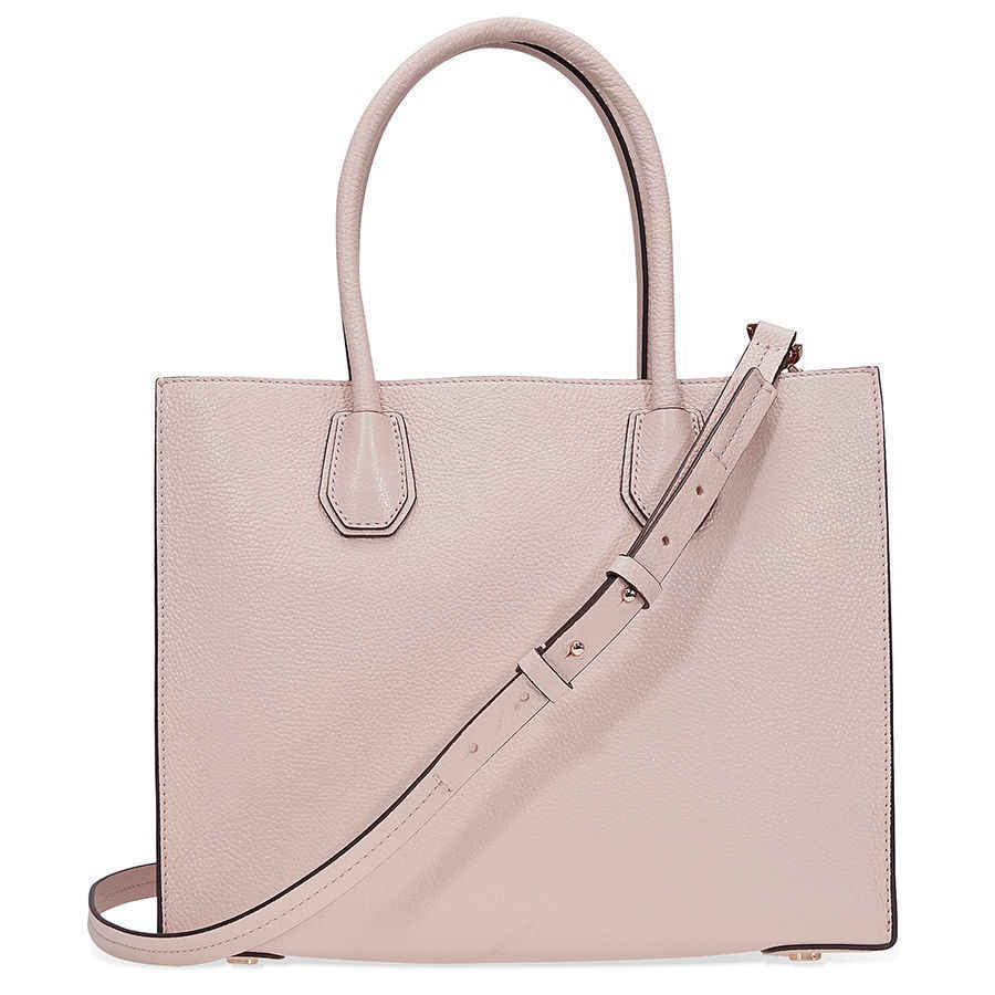 ... Michael Kors Studio Mercer Leather Tote Large Pink Rose Crossbody  Handbag ...