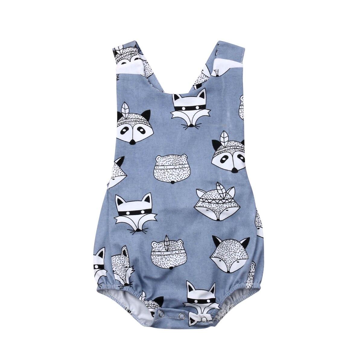 Pudcoco Newborn Infant Baby Boy Girl Cute Bodysuit  Jumpsuit Clothes Outfit