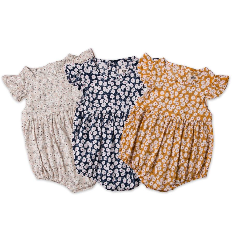Pudcoco Blume Neugeborenen Baby Mädchen Strampler Sommer Baby Mädchen Kleidung Rüschen Spielanzug-overall Overall