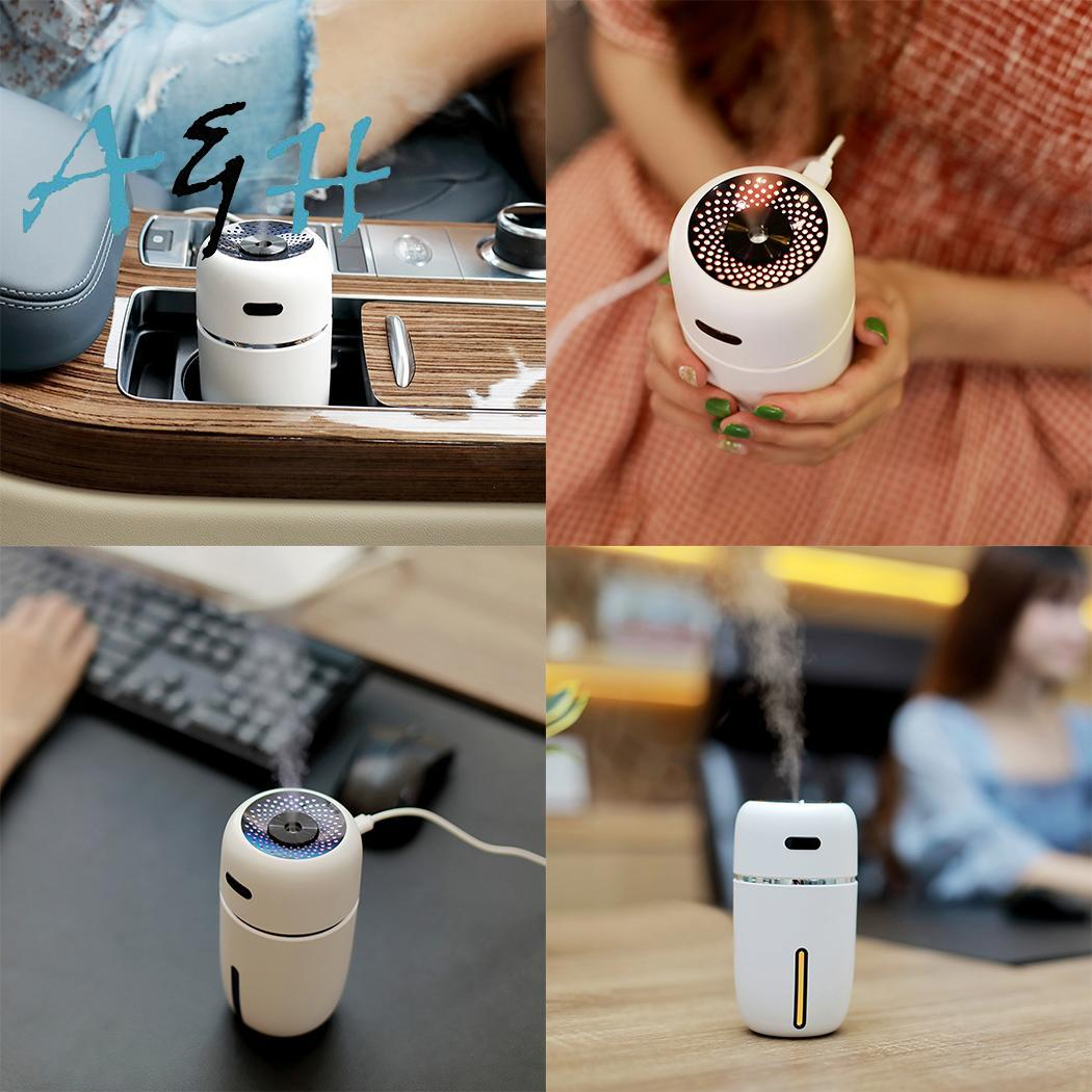 Car Humidifier USB Ultrasonic Air Purifier with 7 Color Changing LED Backlight Travel Portable Mini Electric Mist Maker