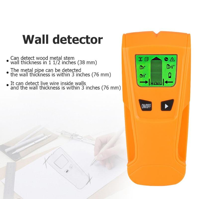 3 In 1 LCD Metal Detector Find Metal Wood Studs AC Voltage Live Wire Detect Wall Scanner Electric Box Finder Wall Detector цены