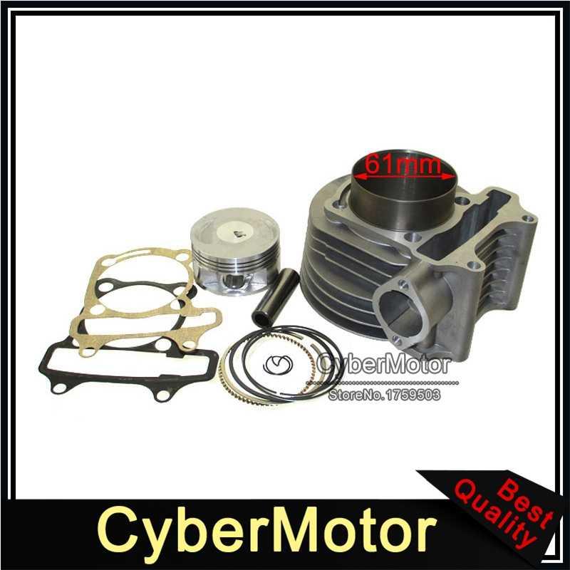 180cc cylindre 61mm grand Kit d'alésage pour GY6 125cc 150cc 1P52QMI 1P57QMJ moteur Scooter cyclomoteur ATV Quad