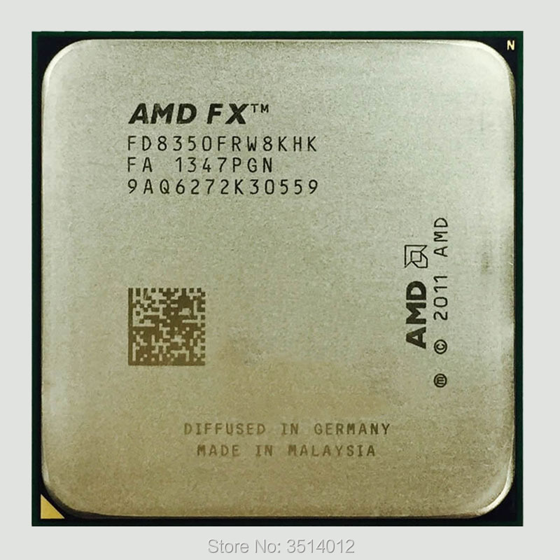 AMD FX Series FX 8350 FX 8350 4 0G Eight Core CPU Processor 125W FD8350FRW8KHK Socket
