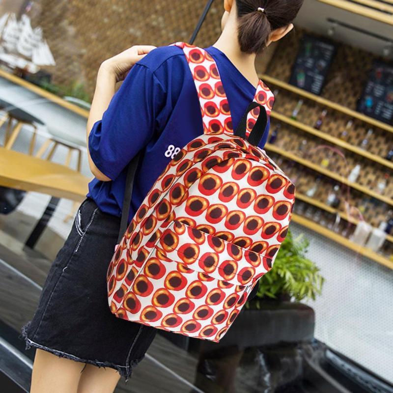 Printing Travel Backpacks Women Nylon Shoulder School Bags Preppy Style Casual Knapsack Rucksack Outdoor Climbing Hiking Bag