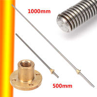 12mm T12x2 Lead Screw Trapezoidal ACME Lead Screw With Brass Nut up to 1m New Arrival