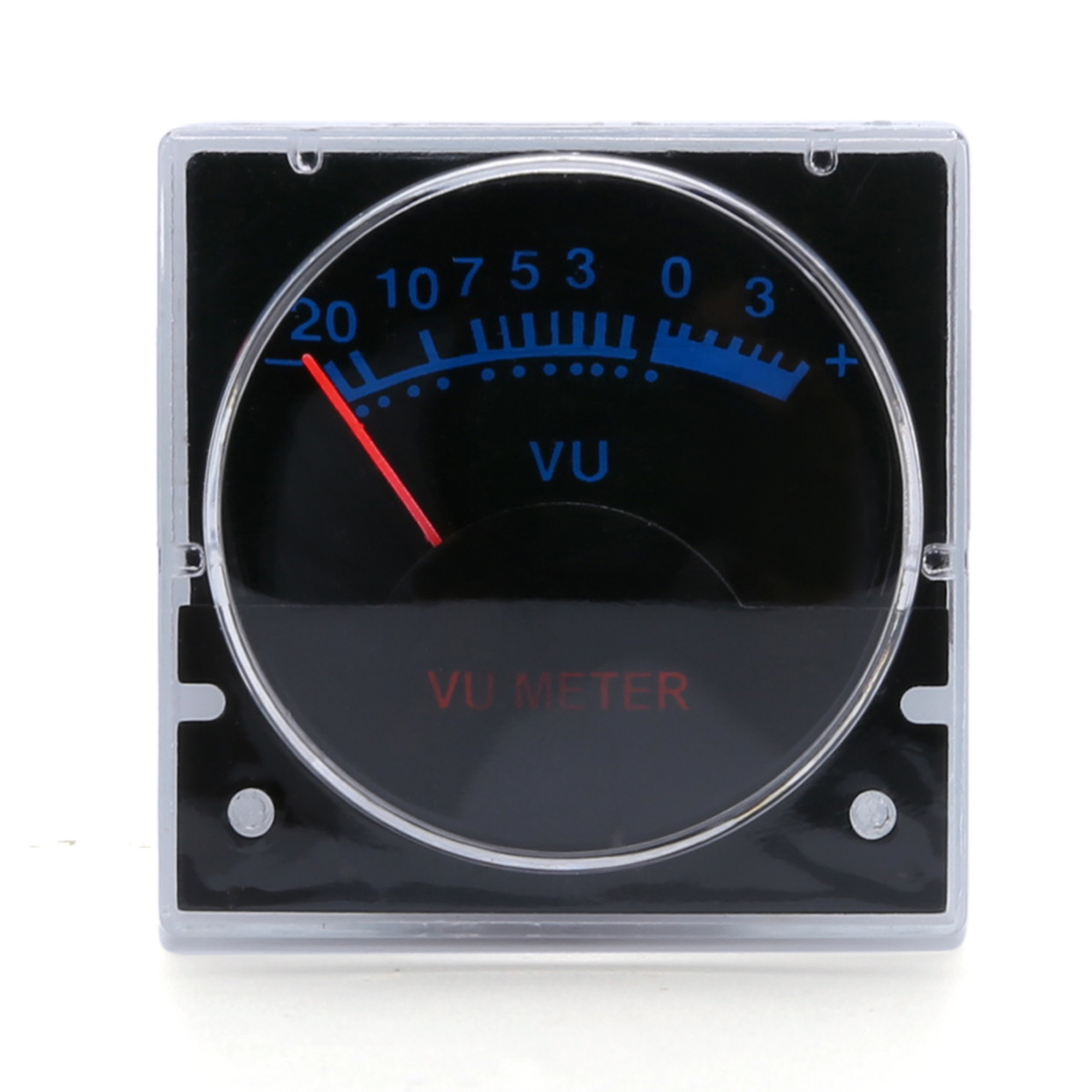 1pc/set  Durable 6-12V Analog Panel VU Meter Audio Level Blue Backlight No Need Driver with 2 cables for power amplifier
