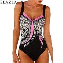 Seazea принт одна деталь Купальник для женщин; большие размеры спинки Купальники малышек Винтаж ванный комплект пикантные комплект Бикин