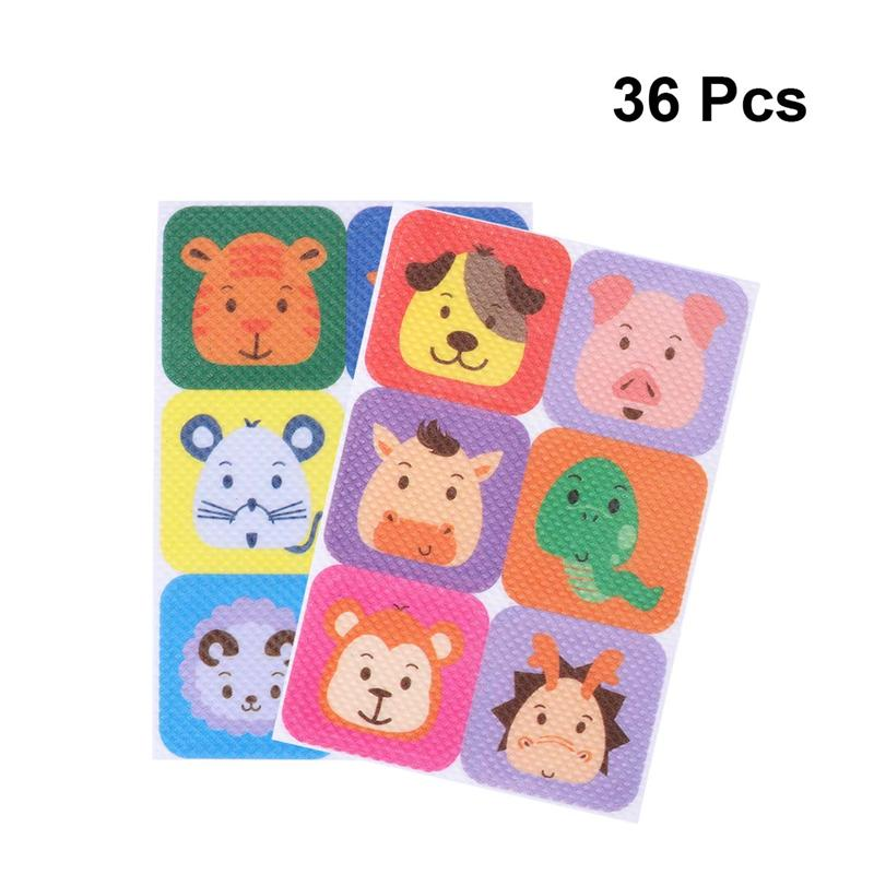 WINOMO 36pcs Mosquito Patch Square Cartoon Anti-Mosquito Repellent Patch Stickers For Children Toddler Infant Kids