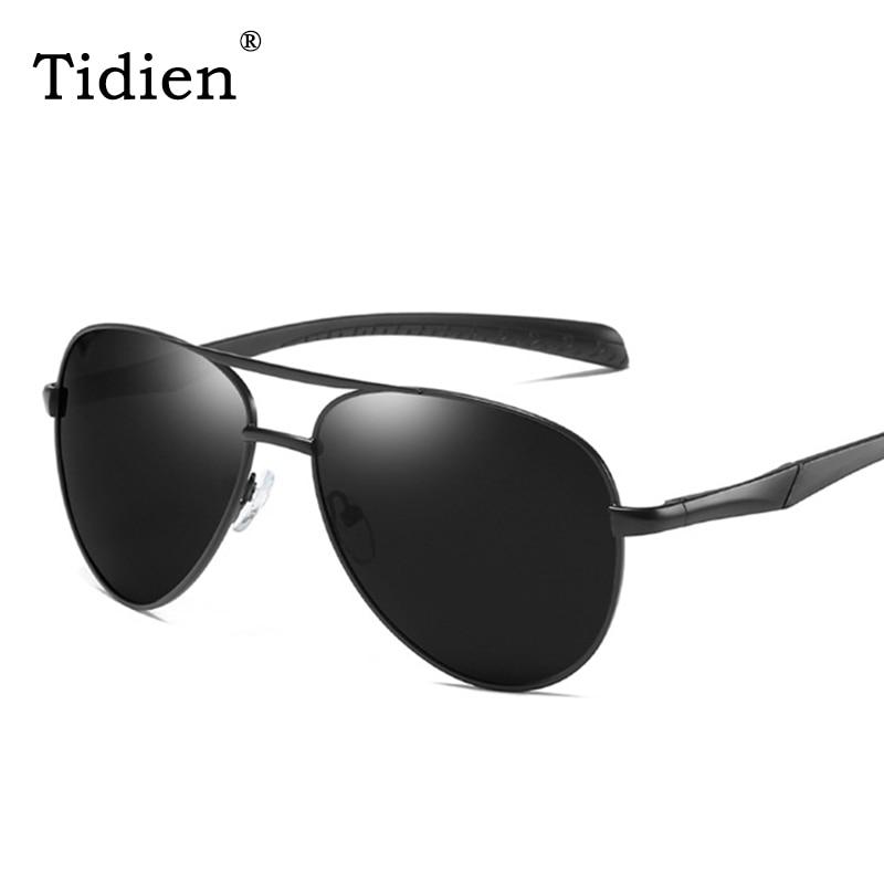 3b46fc93f0 Tidien de piloto aviador polarizado gafas de sol hombres conducción  Flexible viaje pesca de Metal,