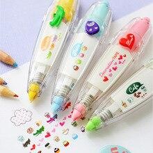 Kawaii животные любовь сердце пресс-коррекция лента декоративная ручка дневник тип коррекции принадлежности канцелярские принадлежности Школьные принадлежности