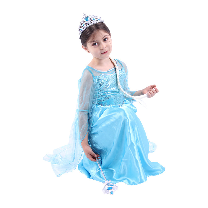 Girl Cinderella Dress Costume Cosplay Kids Movie Princess Child Dress Up Clothes Halloween Costume For Kids Party Clothing
