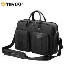 ธุรกิจกระเป๋าเอกสาร 15 นิ้วแล็ปท็อปกระเป๋ากันน้ำสบายๆกระเป๋าสะพายชายกระเป๋าถือที่ถอดออกได้ Multifunction