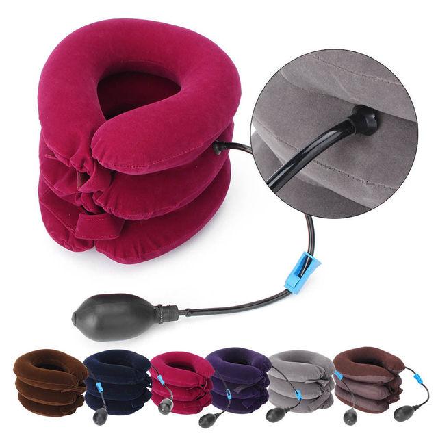 Kéo cổ tử cung Cổ Áo Y Tế PVC line Cổ Massage Thiết Bị Hỗ Trợ Brace Tư Thế Corrector Pain Relief chăm sóc cổ