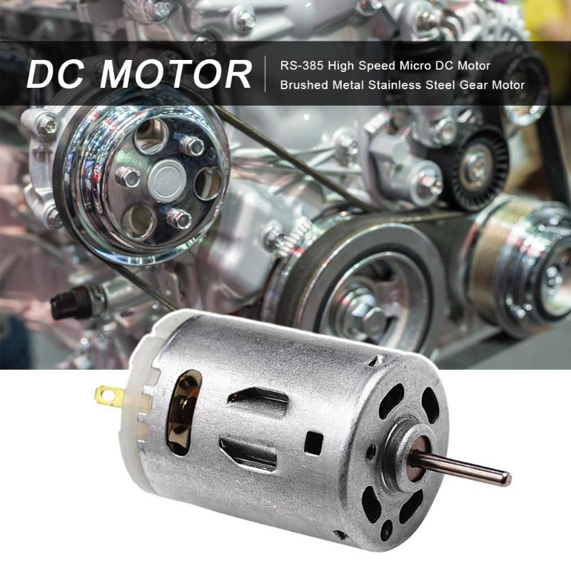 RS-385 High Speed Micro DC Motor Brushed Metal Stainless Steel Gear Motor Brush DC Motor Electronic Component Motor