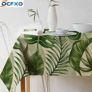 DCFXO green printed tablecloth cloth european fabric