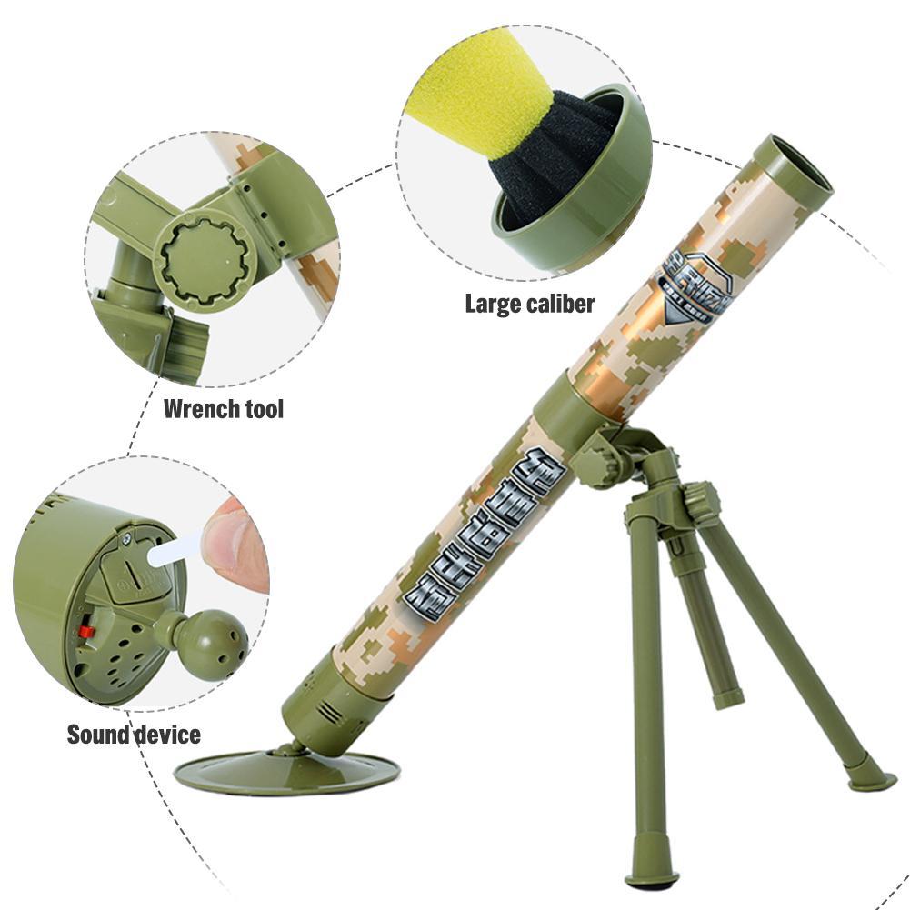 Garçon tir jouets Simulation Cool modèle enfants jouet enfants en plein air amusant interactif jouet canon électrique lancement mortier - 4