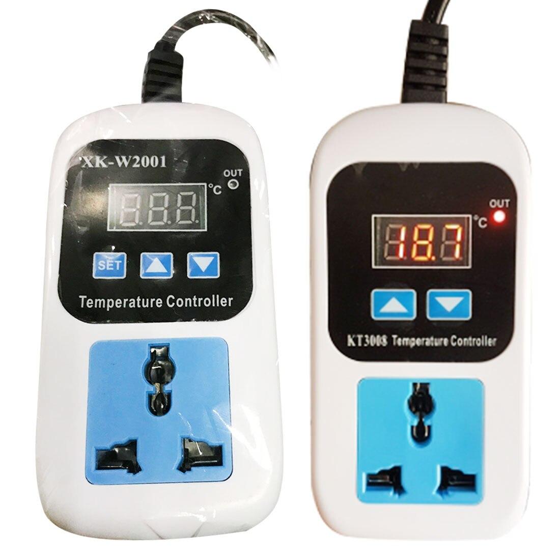 -50 ~ 110c Digitale Thermostat Regler Temperatur Controller Mikrocomputer Steckdose Ac110-220v + Ntc Sensor Kt3008 Kt3009a Den Menschen In Ihrem TäGlichen Leben Mehr Komfort Bringen