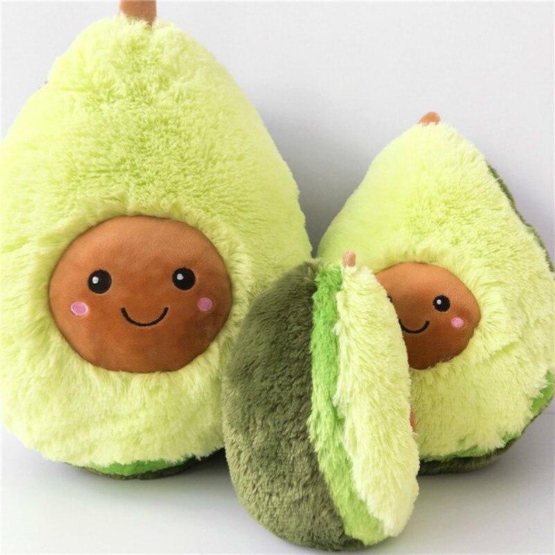 30-40 Cm Avocado Vruchten Leuke Pluche Gevulde Speelgoed Poppen Kussen Kussen Voor Kids Kinderen Christmas Gift Meisjes Baby Squishy Nieuwe Jaar