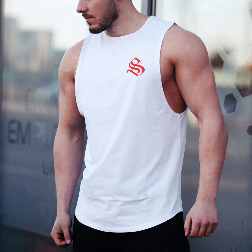 Brand Clothing Workout Vest Gyms Back   Tank     Top   Men Bodybuilding Sleeveless Do The Work Muscle   Tank     Top