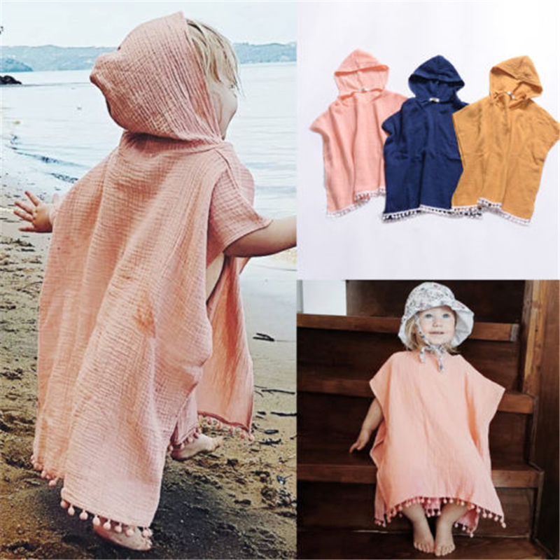 Newborn Kids Baby Girl Cape Wrap Shawl Tassel Hooded Poncho Cloak Jumper New Solid Color Cotton And Linen Girl Cloak HoodedNewborn Kids Baby Girl Cape Wrap Shawl Tassel Hooded Poncho Cloak Jumper New Solid Color Cotton And Linen Girl Cloak Hooded