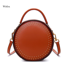 Messenger bag genuine leather women bags 2019 NEW Tassel Rivet fashion crossbody luxury handbags girls