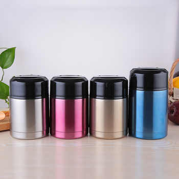 304 stainless steel thermos lunch box for hot food with containers 800ml 1000ml Vacuum Flasks Thermoses thermo mug thermocup