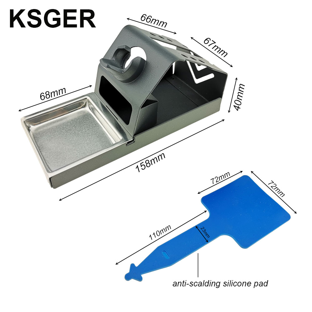 Image 3 - KSGER  DIY T12 Zinc alloy Holder Soldering Iron FX9501 Handle Frame OLED Station Stand For Stainless Steel Handle Silicone PadElectric Soldering Irons   - AliExpress