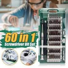 60 in 1 Precision Screwdriver Bit Repair Opening Tools Kit For Cell Phones
