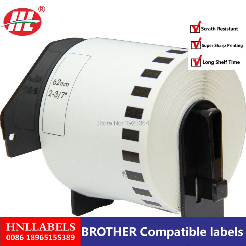 100x Rolls  Dk22205 Dk-22205 Dk 22205 Brother Compatible Labels Barcode Sticker,dk Label