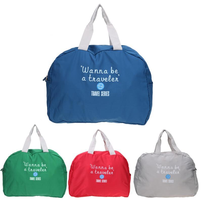 2018 Waterproof Travel Bag Large Capacity Fashion Women Polyester Folding Bags Luggage Duffle Bag Waterproof Journey Handbags