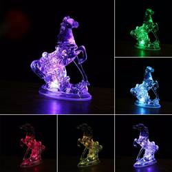 Новый 7 цветов Изменение животных Акриловые Лошадь светодиодный ночник лампа Рождество украшения в спальню