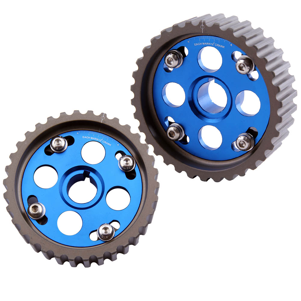 2 Pcs Adjustable Cam Gear Camshaft Gears for <font><b>Honda</b></font> <font><b>Civic</b></font> CR-X SiR Integra B16 <font><b>B16A</b></font> image