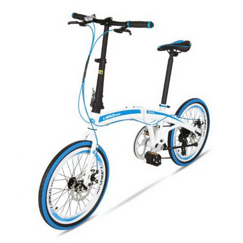 T250111/Folding Bike Ultra-light Portable 20-inch 7-speed Disc Brake Folding Car Men And Women Commute Bike