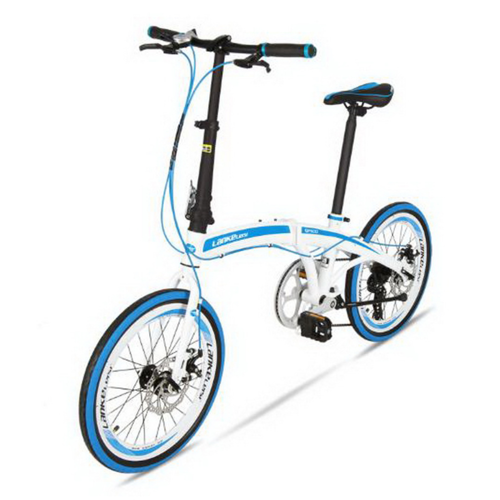 T250111/Folding bike ultra-light portable 20-inch 7-speed disc brake folding car men and women commute bike image