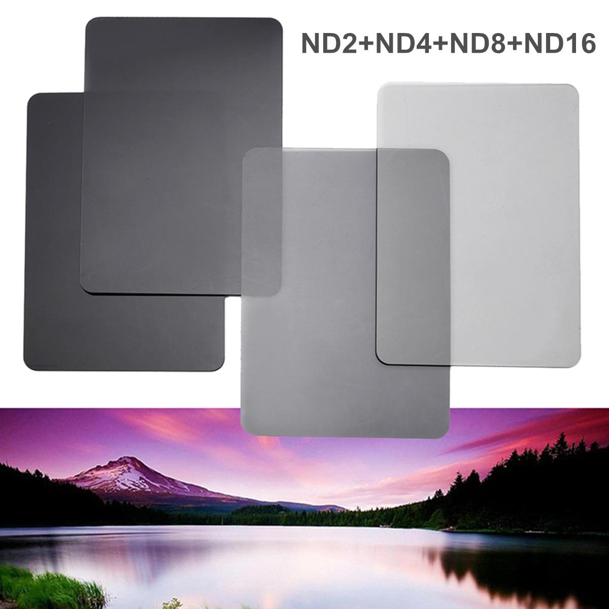 100*150mm Neutre Densité Caméra Filtres Kit ND2 + 4 + 8 + 16 Numérique Carré Filtre Pour cokin Caméra Accessoires 4 pcs/ensemble