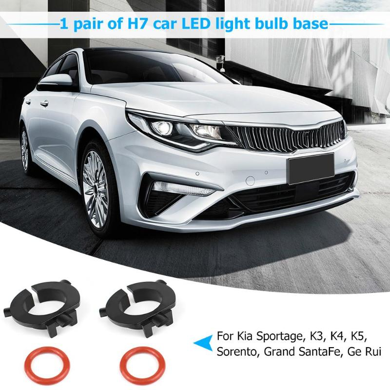 VODOOL 1 Pair H7 Car LED Headlight Bulb Base Adapter Holders Retainer Socket For Hyundai Sonata Nissan QASHQAI KIA Sportage